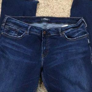 Women's silver Suki jeans size 22/33.